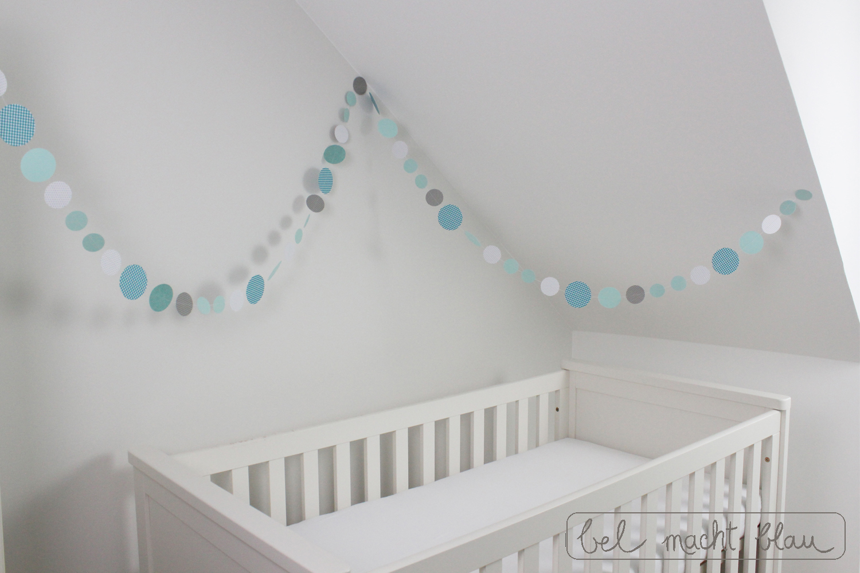 Kreisgirlande 8 bel macht blau - Girlande babyzimmer ...
