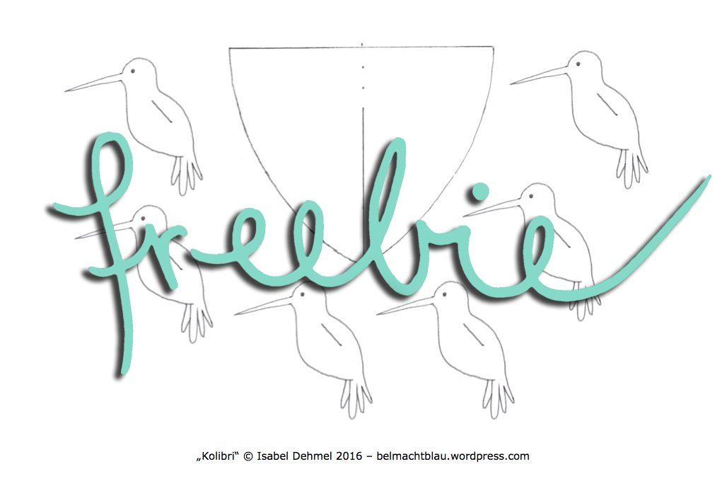 Freebie: Kolibri-Bastelvorlage und Anleitung