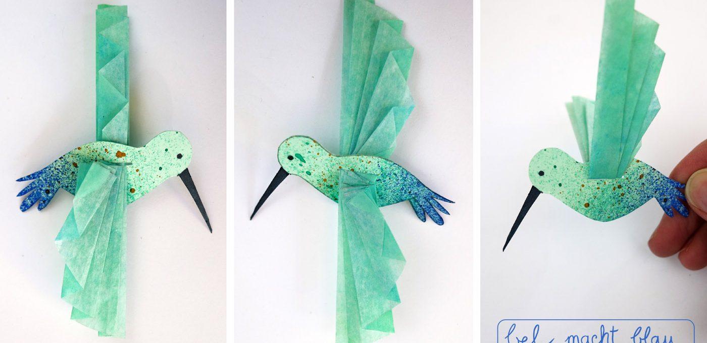 Wie schön: Die Kolibri-Flügel werden aufgefächert.