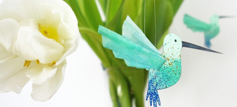 DIY Bastelanleitung für einen süßen Kolibri - Kolibri basteln