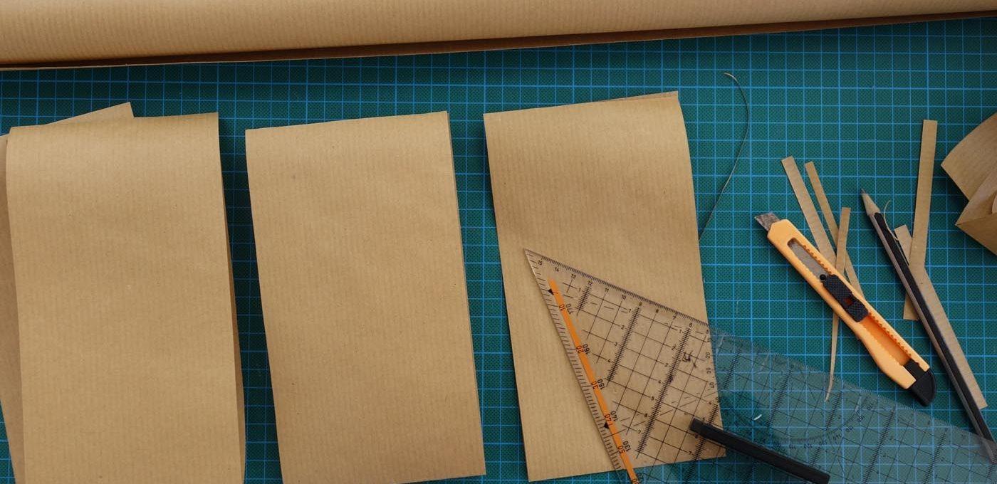 Packpapier zuschneiden
