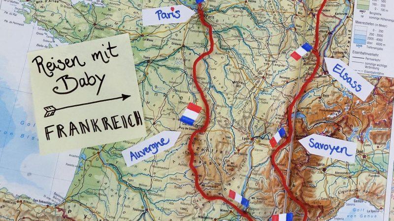 Reisen mit Baby - Rundreise durch Frankreich
