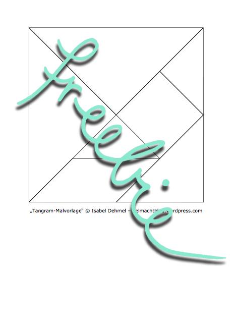 Tangram-Malvorlage als Freebie