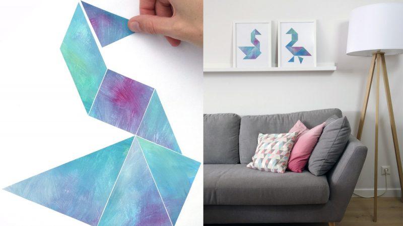 Tangram-Kunst - Bastelanleitung mit guten Tipps
