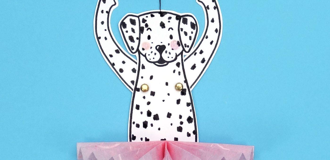 Freebie mit Bastelanleitung - Hampelhund im Tutu