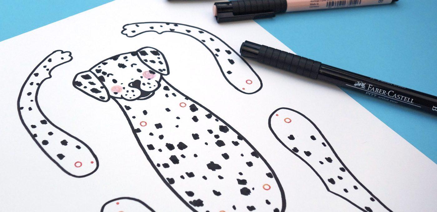 Druckvorlage für den Hampelhund