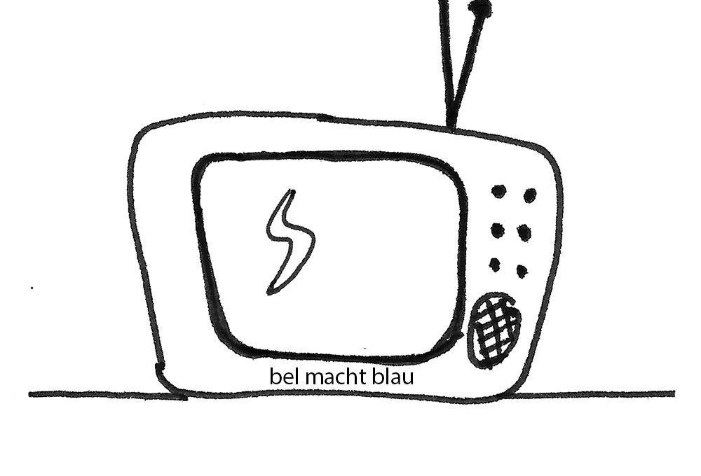 Fernseher von früher (Zeichnung)