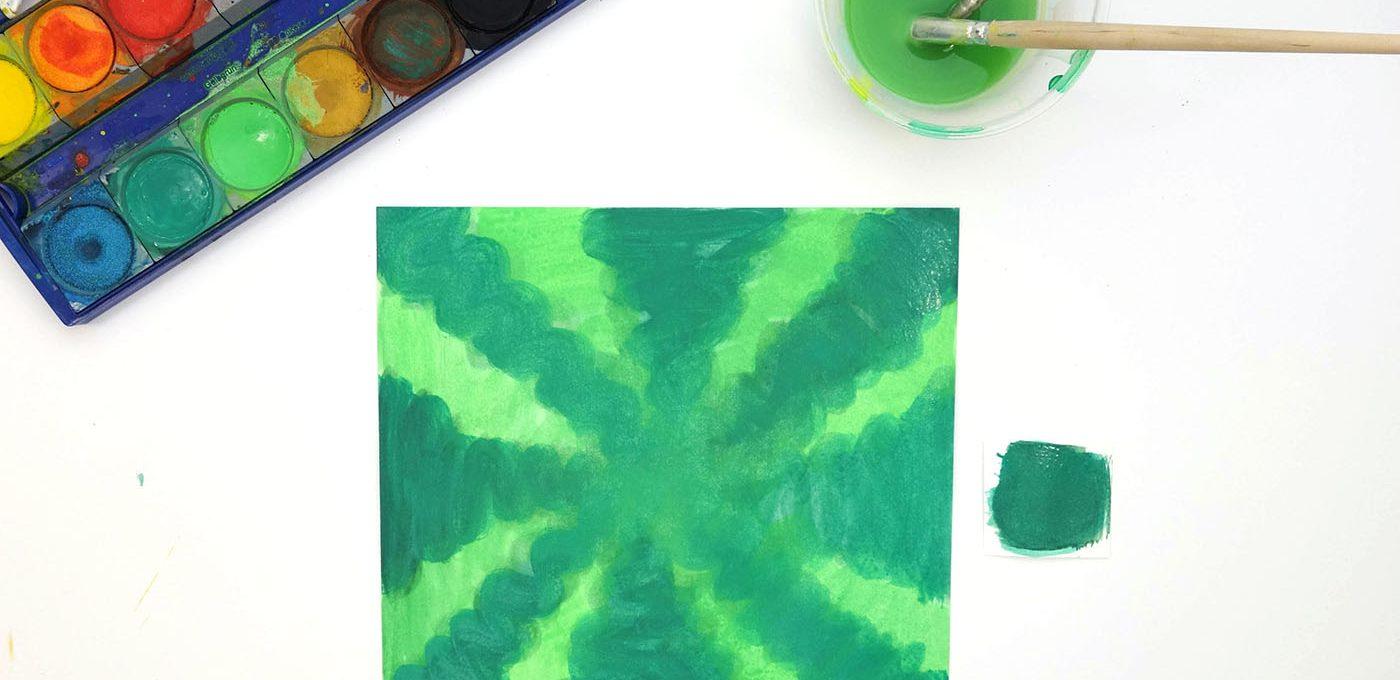 Malen Schritt-für-Schritt: eckige Melone