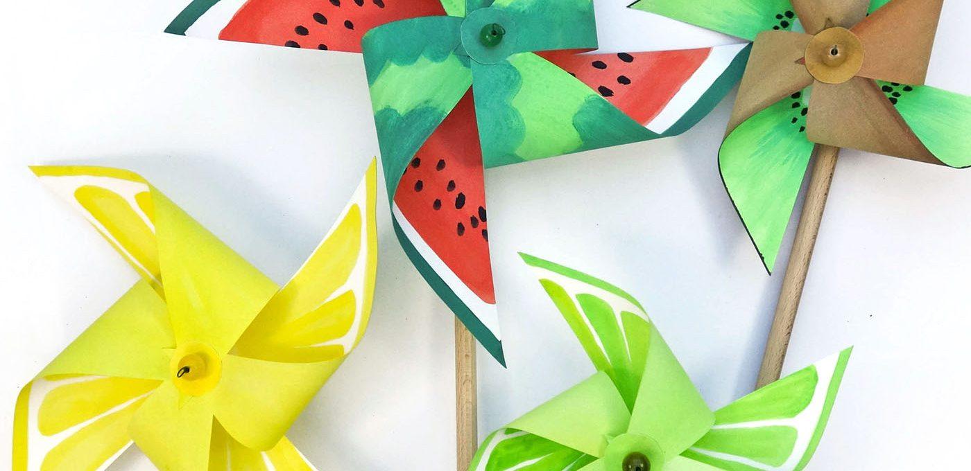 Anleitung für ein Melonen-Windrad