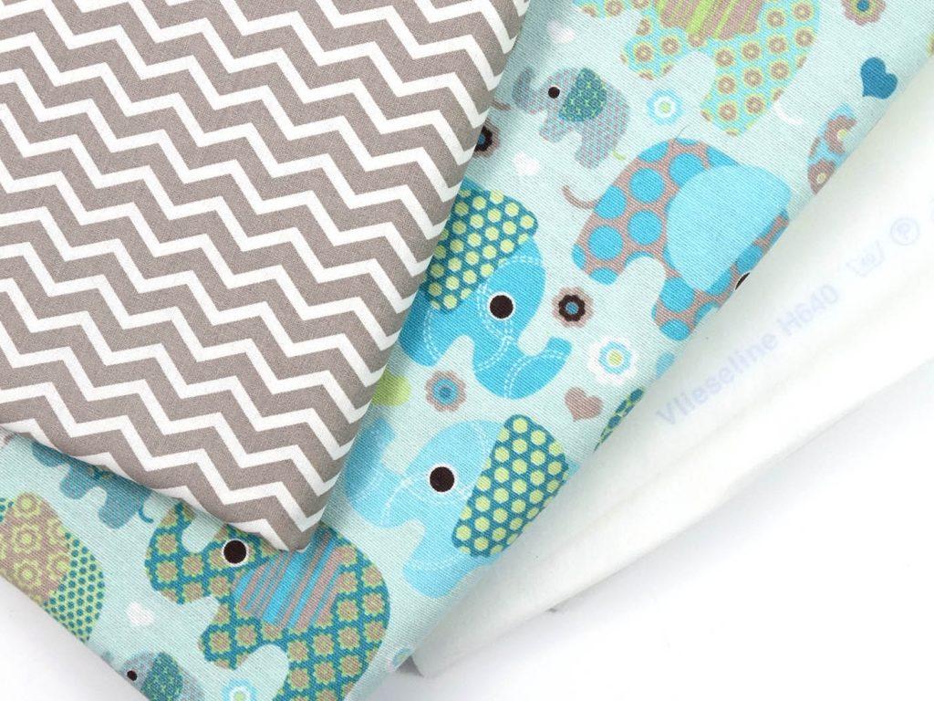 Stoffliebe - Muster- und Elefantenstoffe für ein Utensilo
