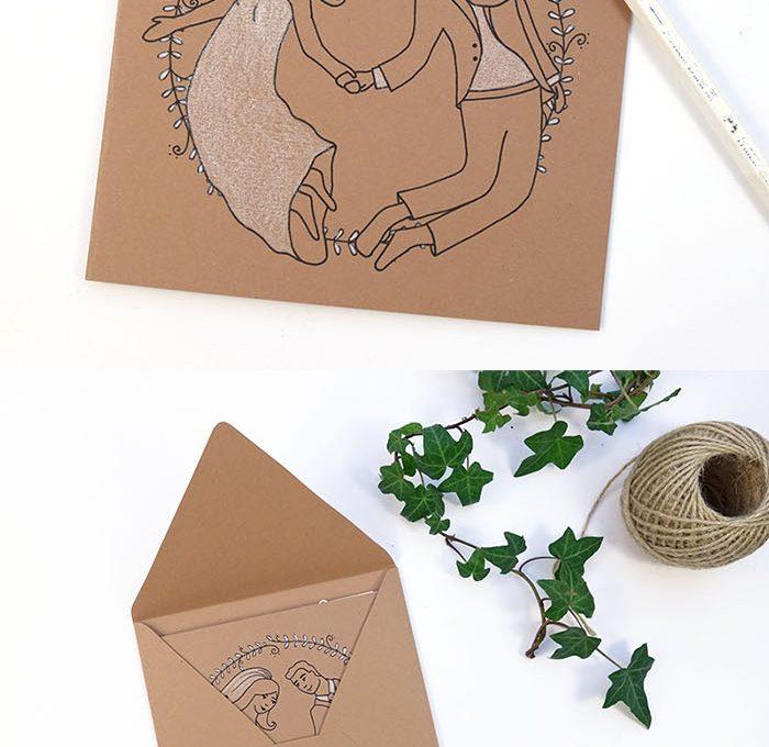 Freebie für eine Hochzeitskarte / Glückwunschkarte zur Hochzeit