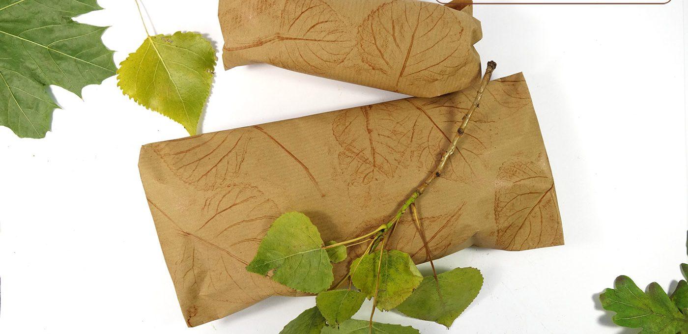 DIY - herbstliches Geschenkpapier