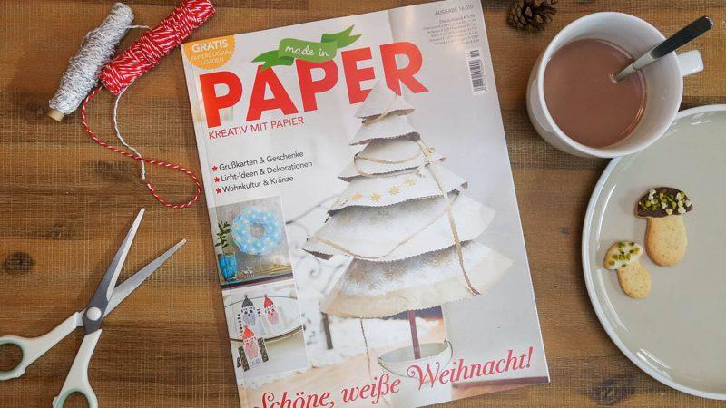 """bel macht blau in der Zeitschrift """"Made in Paper"""""""
