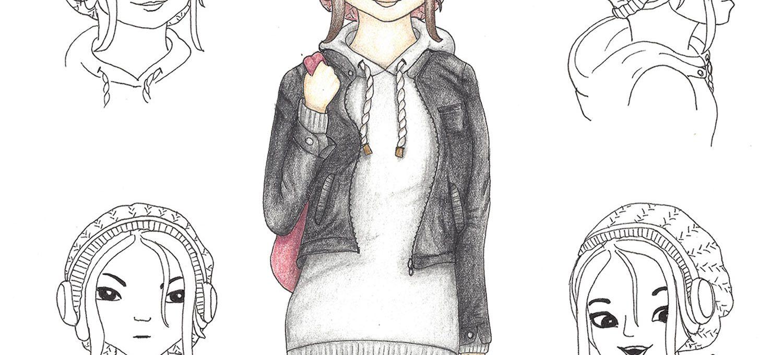 """Computer-Genie """"Aurelia"""" (Characterdesign) - Illustration von Isabel Dehmel"""