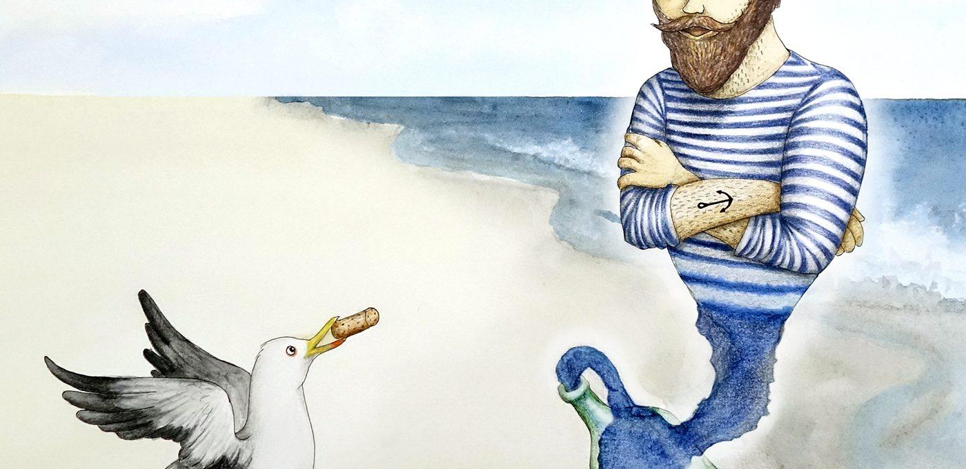 Der Flaschengeist - Illustration von Isabel Dehmel