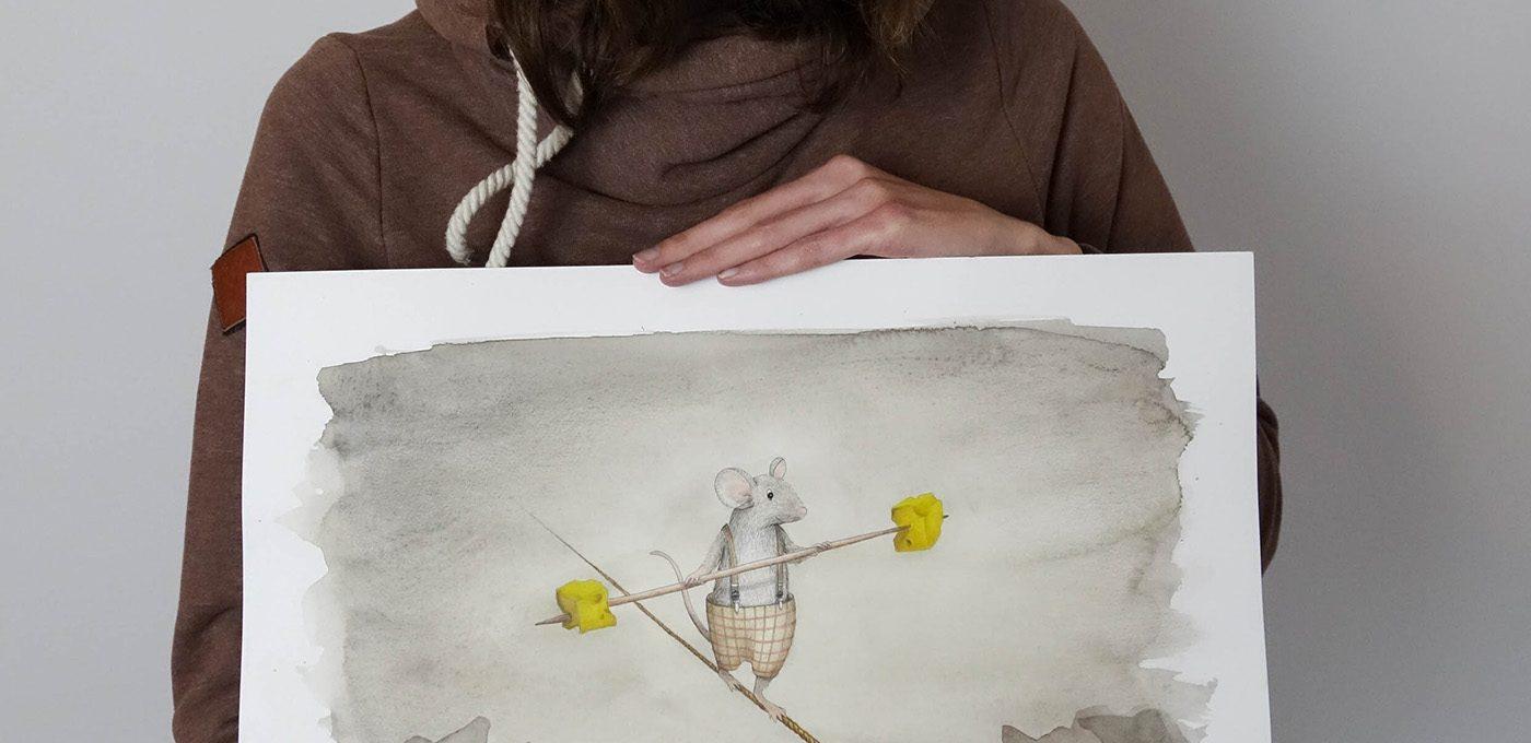 Mäusezirkus - Illustration von Isabel Dehmel