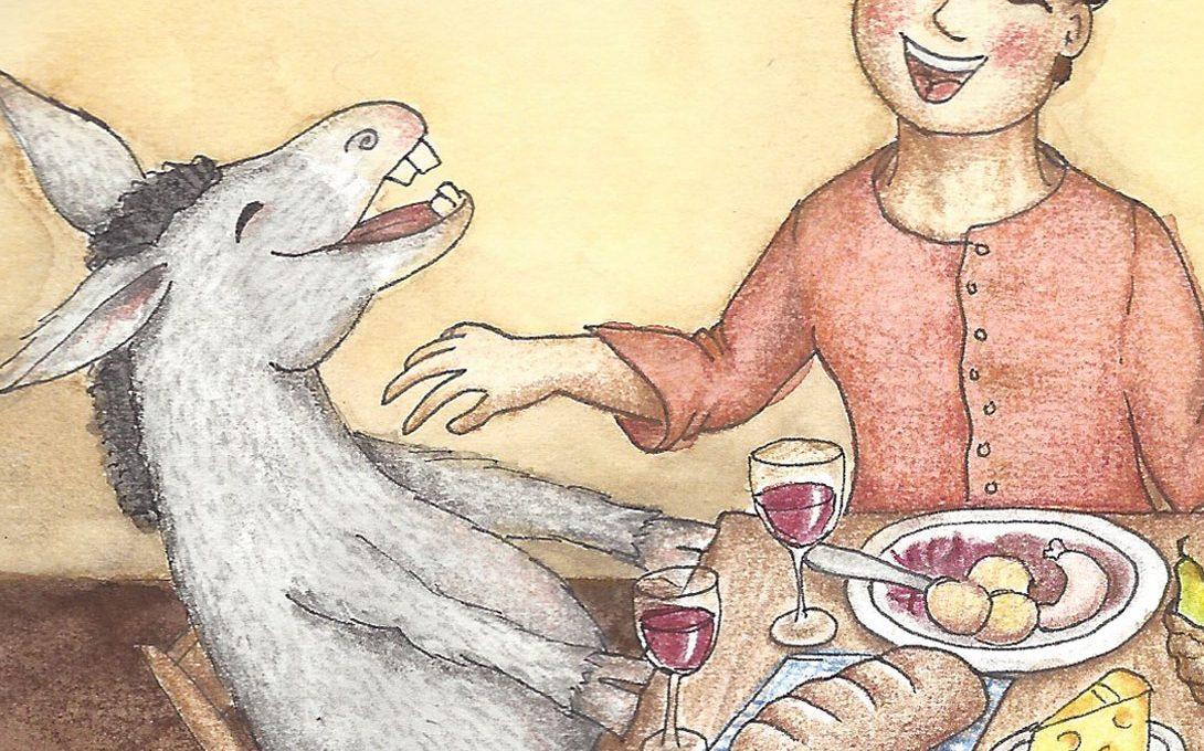 Tischlein deck dick (Detail) - Illustration von Isabel Dehmel