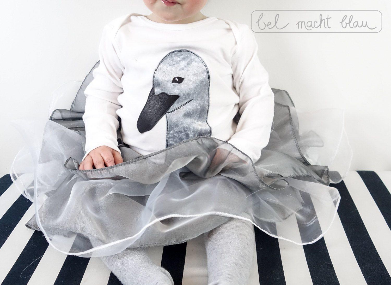 Faschingskostüm nähen: Schwanenkostüm / Schwanenküken-Kostüm / Karnevalskostüm für Kleinkinder