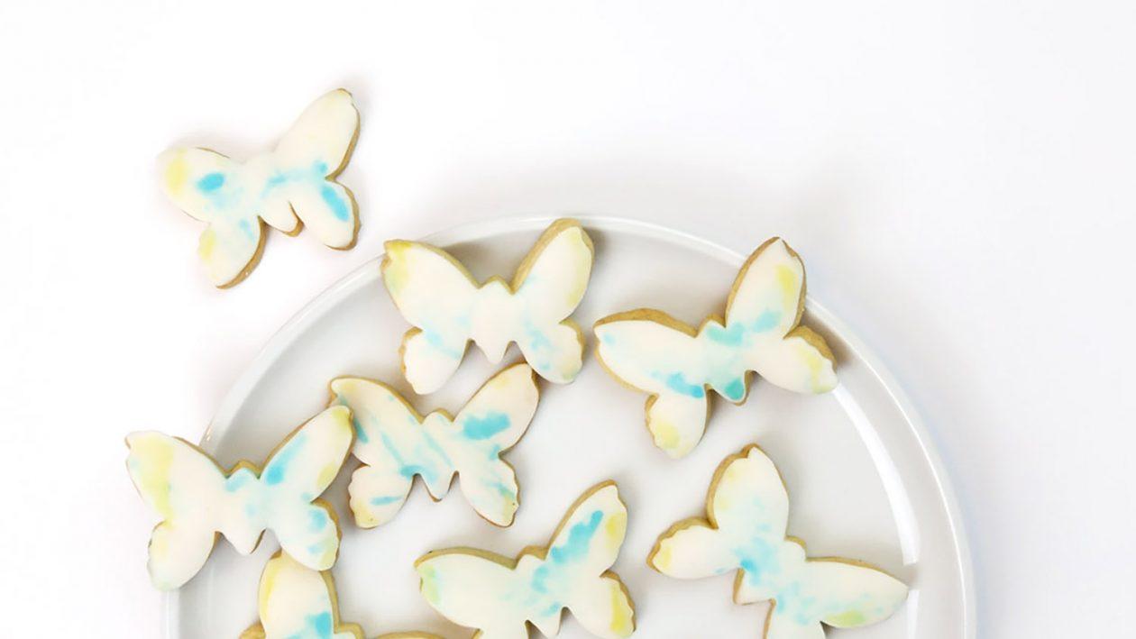 Bemalte Schmetterlingskekse / Kekse verzieren / Backen und Malen mit Kindern - DIY-Idee für Große und Kleine