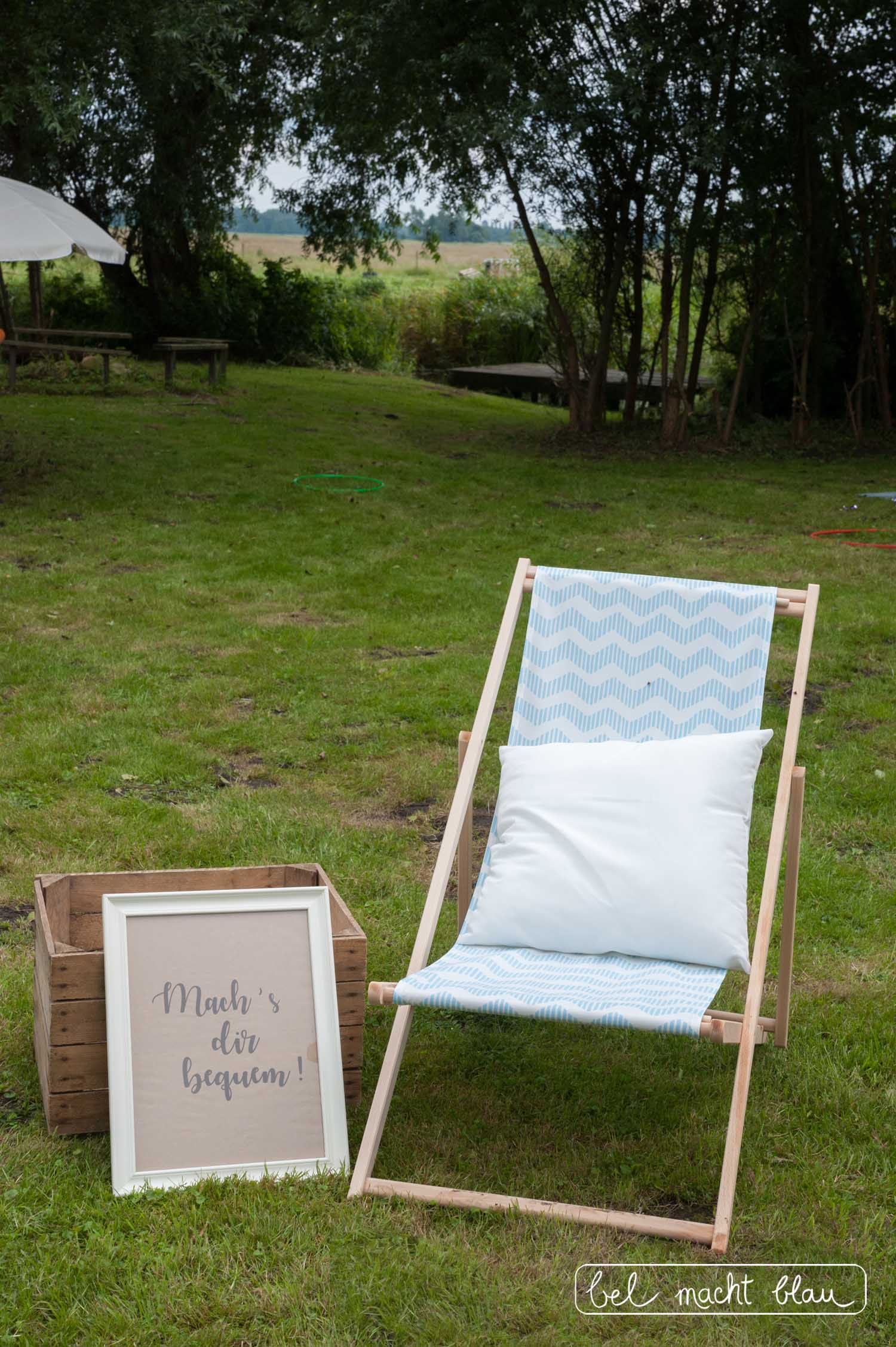 Hochzeit mit Kindern - die besten Beschäftigungsideen - Machs dir bequem - Liegestuhl