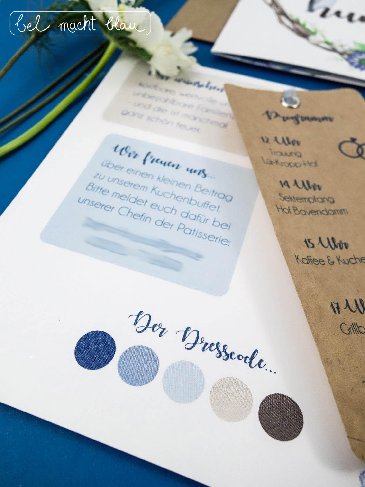 Dresscode in Blau-, Beige- und Brauntönen. Passend zur Hortensien-Hochzeitspapeterie für unsere Familienhochzeit im Sommer. // blue and brown dresscode // wedding invitation
