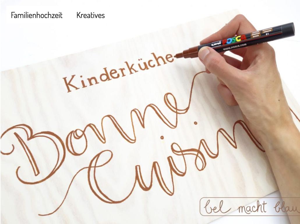 DIY-Anleitung: handbemalte Holzschilder für die Hochzeit (Kooperation mit uni POSCA)