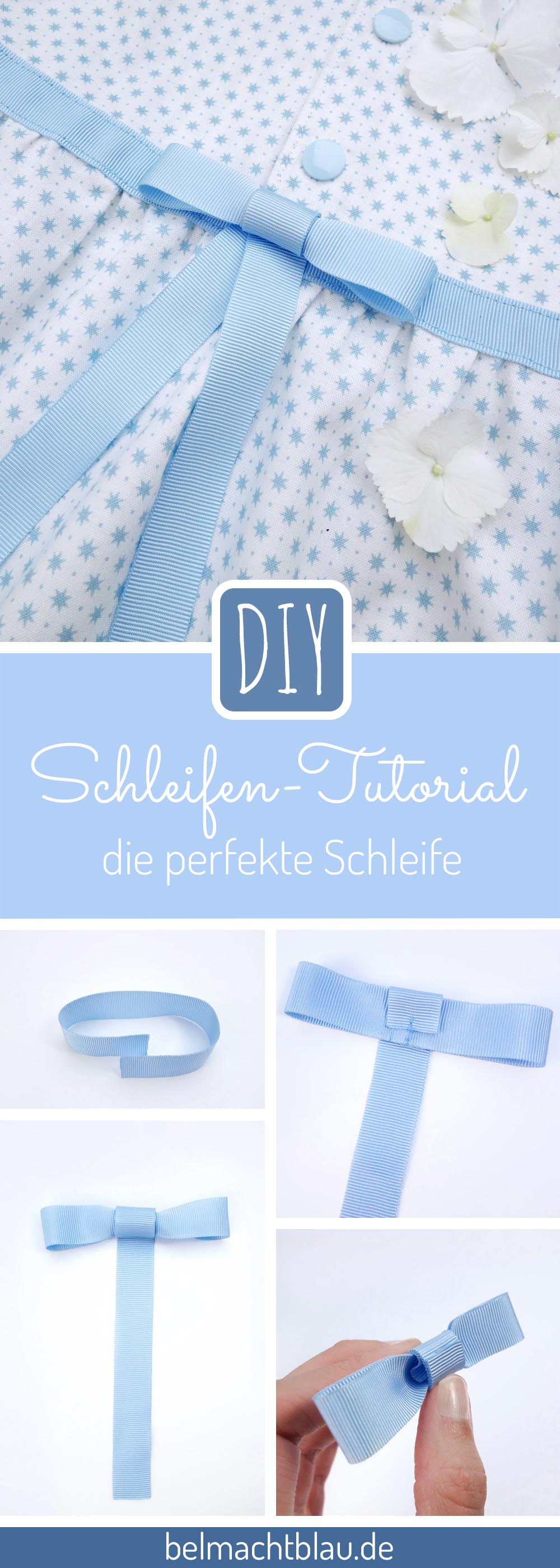 schleifen tutorial die perfekte schleife f r dein m dchenkleid bel macht blau. Black Bedroom Furniture Sets. Home Design Ideas