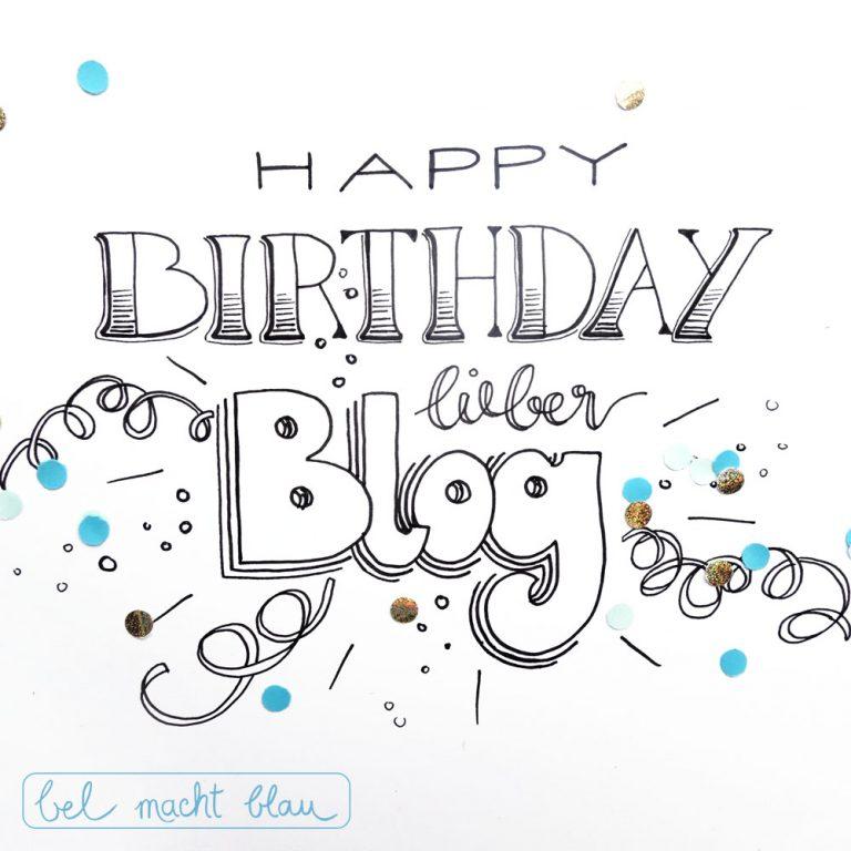 Happy Birthday lieber Blog - bel macht blau wird 2!
