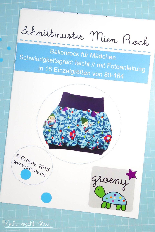 Mien Rock // Gewinne ein Schnittmuster von groeny! bel macht blau wird 2 - Gewinnspiel zum Bloggeburtstag