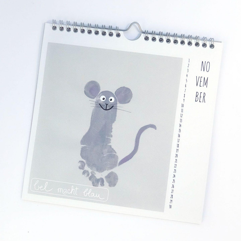 Fußabdruck Maus - Kalender mit Fußabdrücken