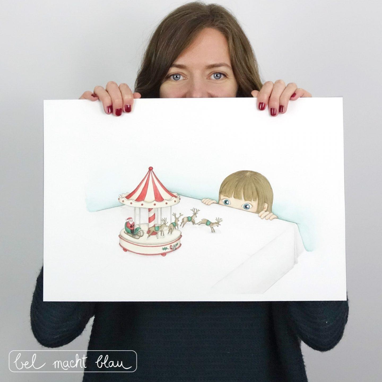 Meine erste Weihnachtkarten - Illustation von Isabel Dehmel