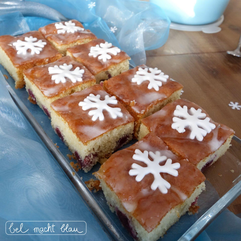 Eisbären-Geburtstag: Schneeflockenkuchen