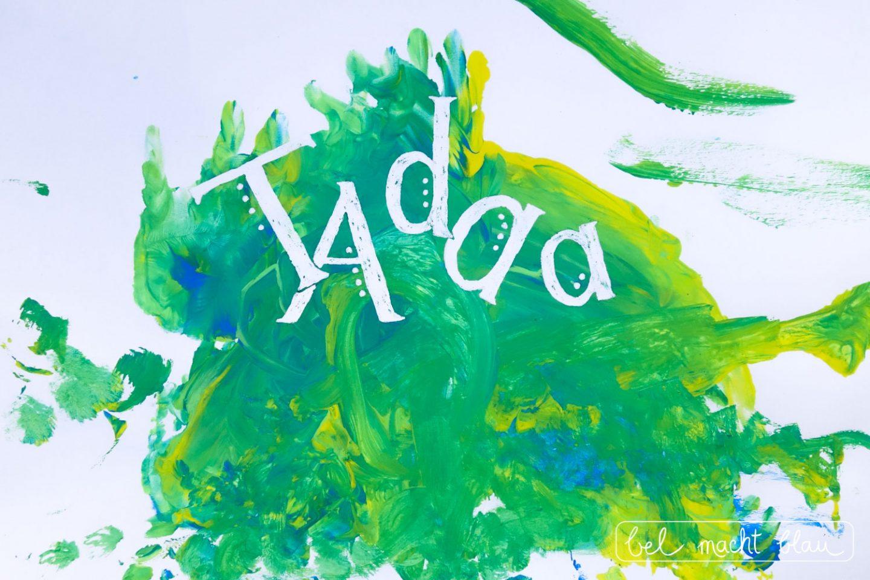 Malen mit Kleinkindern - Tipps für Farben, Pinsel und Papier // Malidee mit Masking Fluid