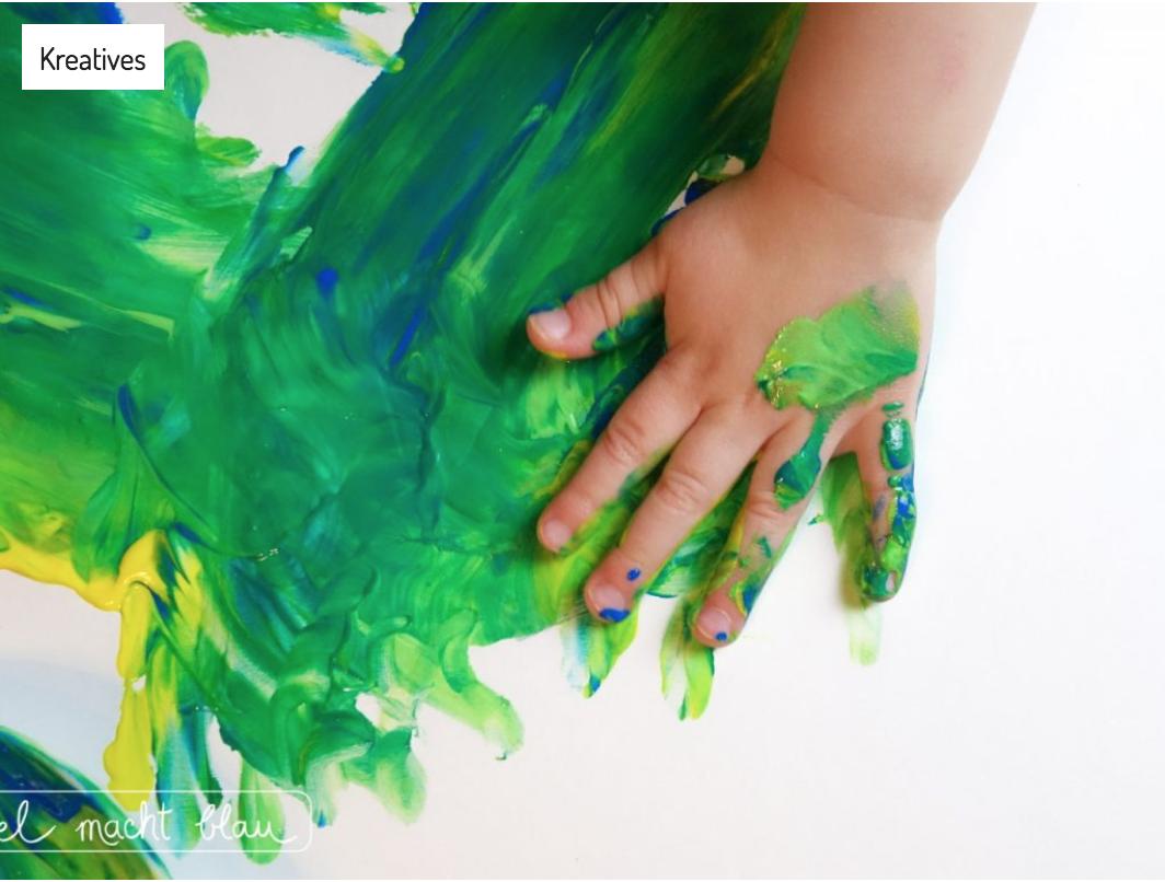 Kooperation mit Gerstaecker - Malen mit Kleinkindern