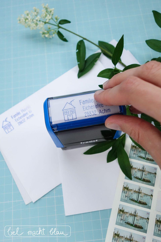 Adress-Stempel mit Familiennamen - die besten Geschenkideen zur Familienhochzeit