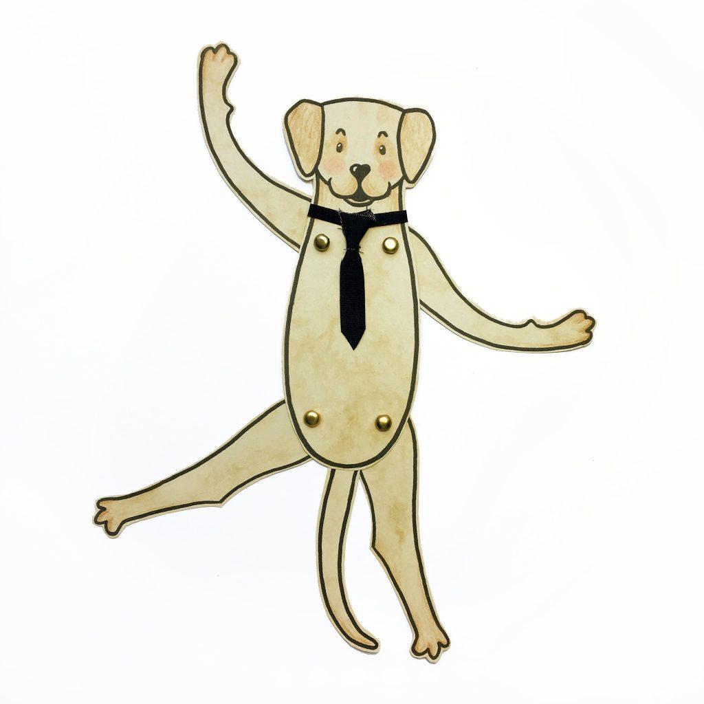 DIY Hampelhund - Labrador Retriever mit Krawatte