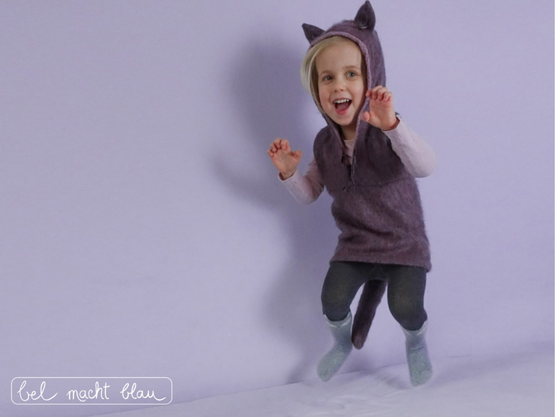 Ein Wolfskostum Fur Fasching Nahen Naturlich In Lila Bel Macht Blau