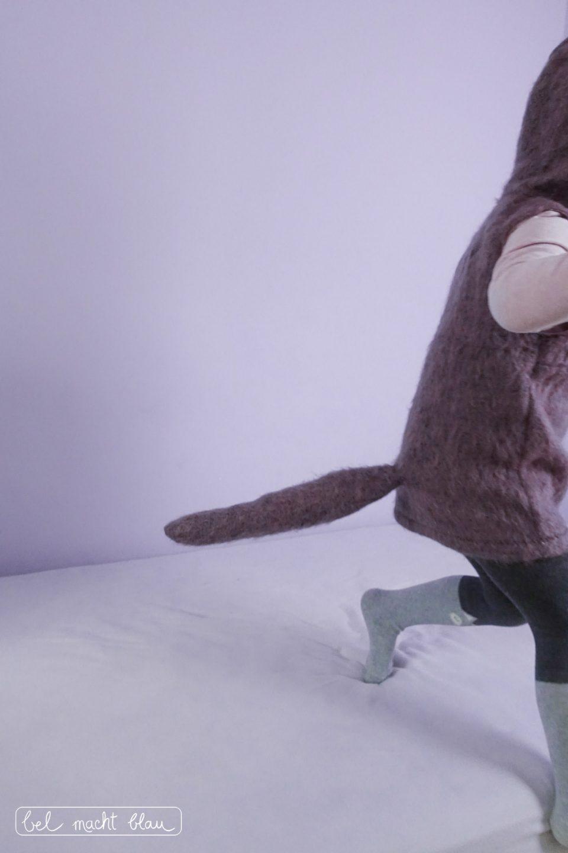 Lila Wolfskostüm // Kinderkostüm für Fasching selber nähen