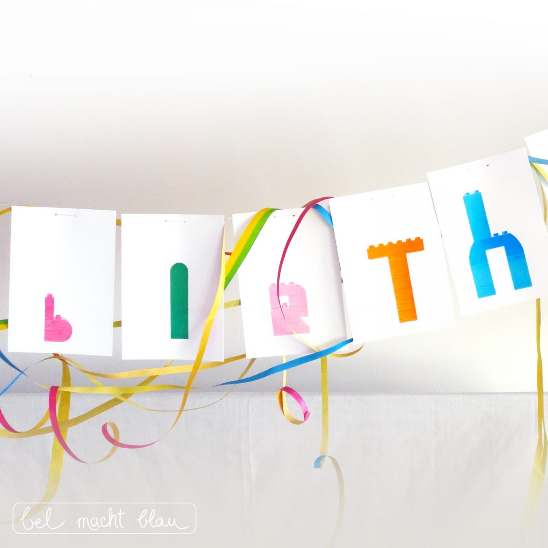 """LEGO duplo Girlande """"Happy Birthday"""" - Ideen für einen Lego duplo Kindergeburtstag"""