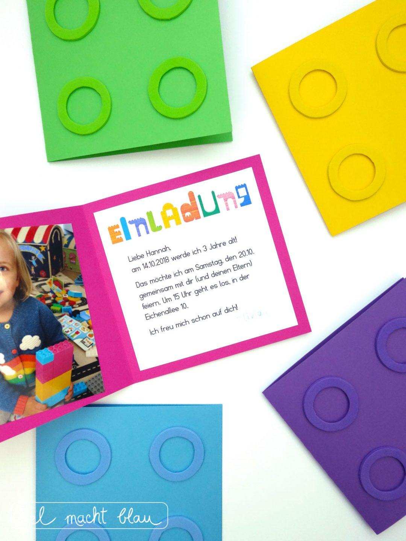 LEGO duplo Einladungskarten - Ideen für einen Lego duplo Kindergeburtstag