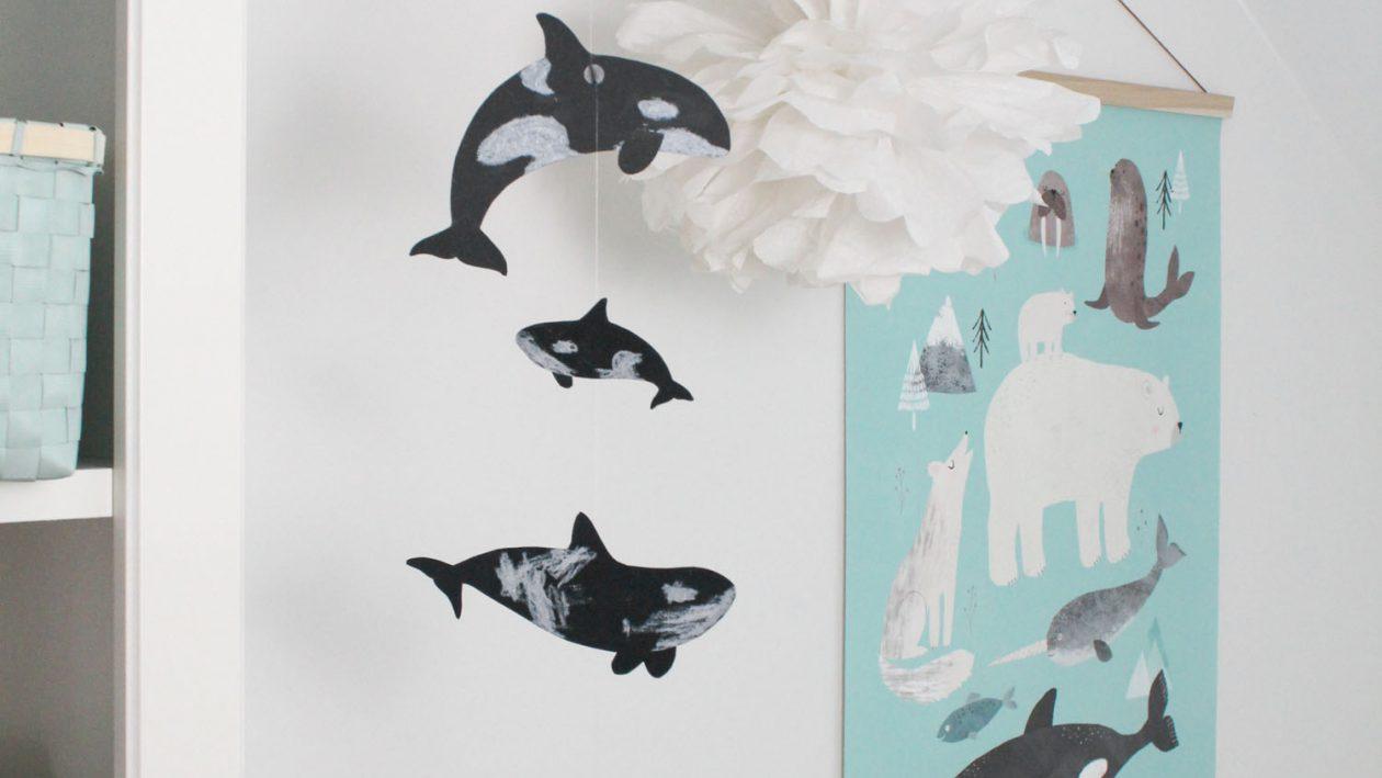 Wir basteln eine Orca-Girlande fürs Babyzimmer - Druckvorlage