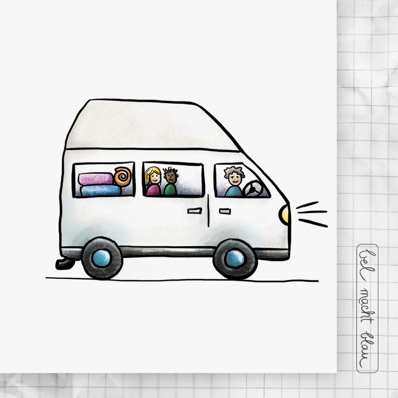 """Kartei 01 - das Wohnmobil - """"Kleine Künstler - kleine Schritte"""" ...die Zeichen-Kartei für Kinder!"""