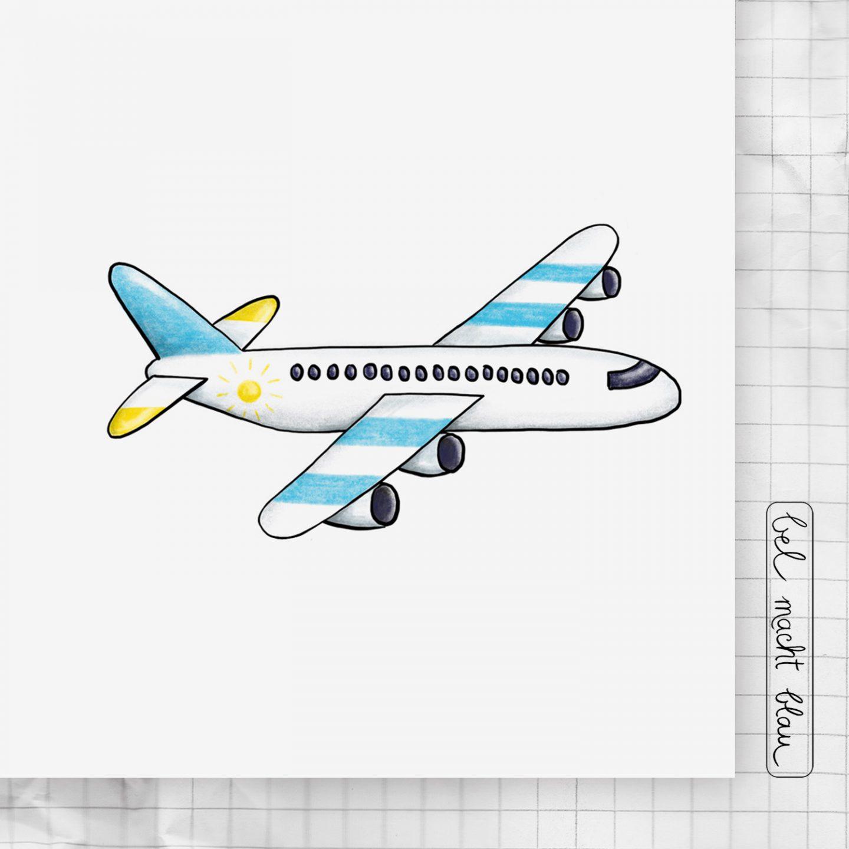 """Kartei 06 - das Flugzeug - """"Kleine Künstler - kleine Schritte"""" ...die Zeichen-Kartei für Kinder!"""