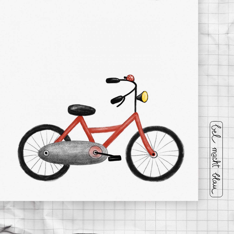 """Zeichenkartei Nr. 12: ein Fahrrad zeichnen - """"Kleine Künstler - kleine Schritte"""" ...die Zeichen-Kartei für Kinder!"""